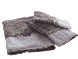 מגבת שיק אפור