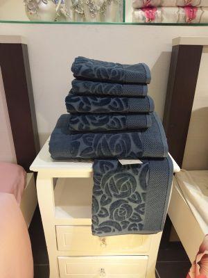 מגבת מהודרת דגם גרדניה צבע פטרול