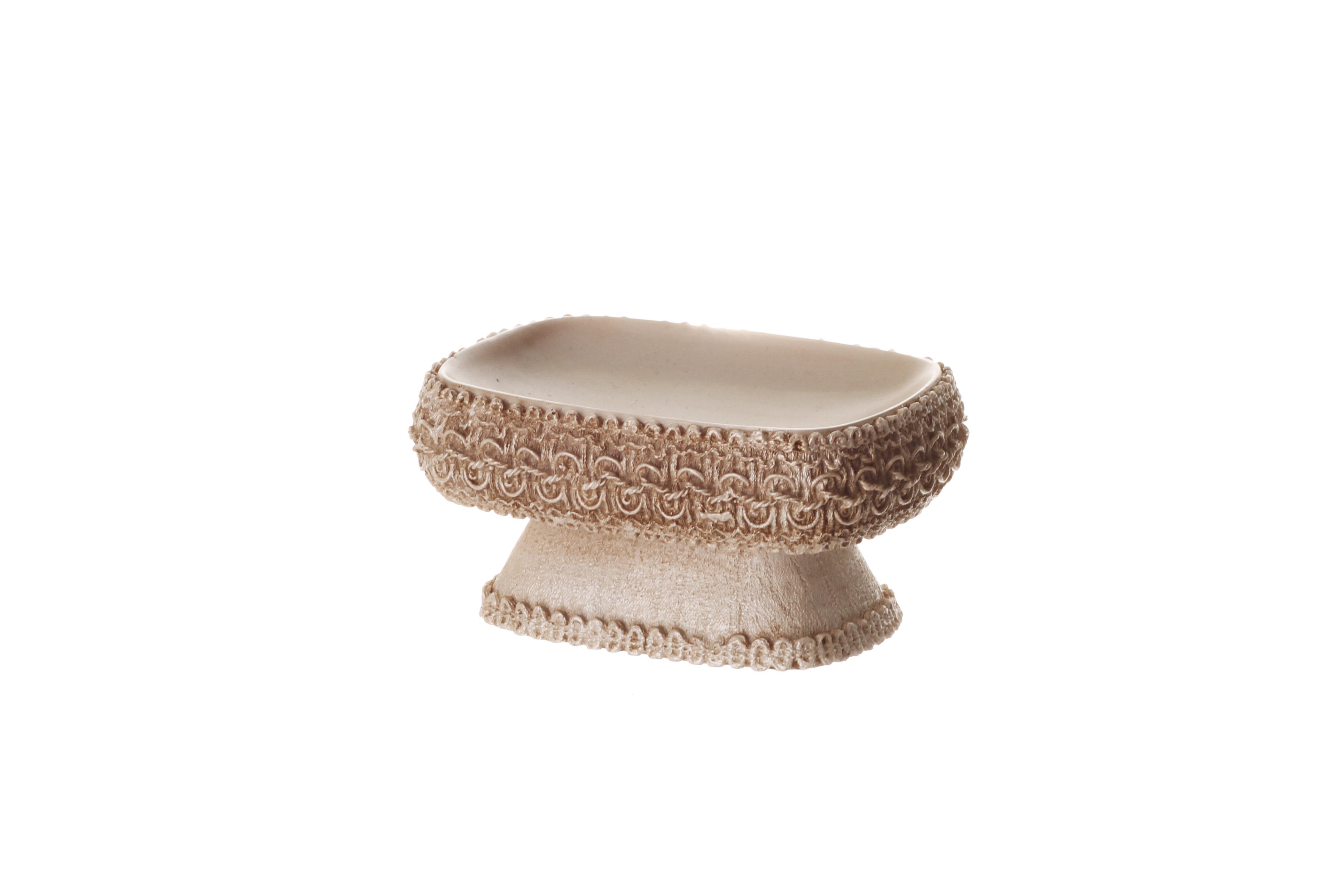סט כלי אמבטיה שיק שמנת