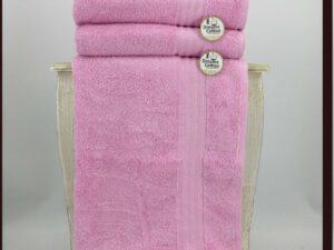 מגבת חלקה ורוד