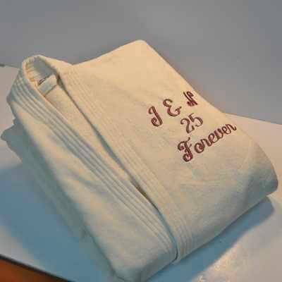 חלוק מגבת קטיפתי