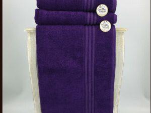 מגבת חלקה סגול