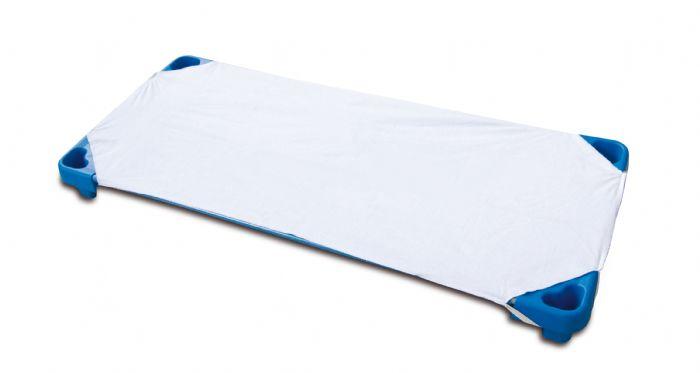סדין כותנה למיטה נערמת