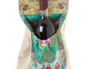 """להיט !! מגבת מטבח כיס כפפה """"מיכל נגרין"""" + בקבוק יין"""