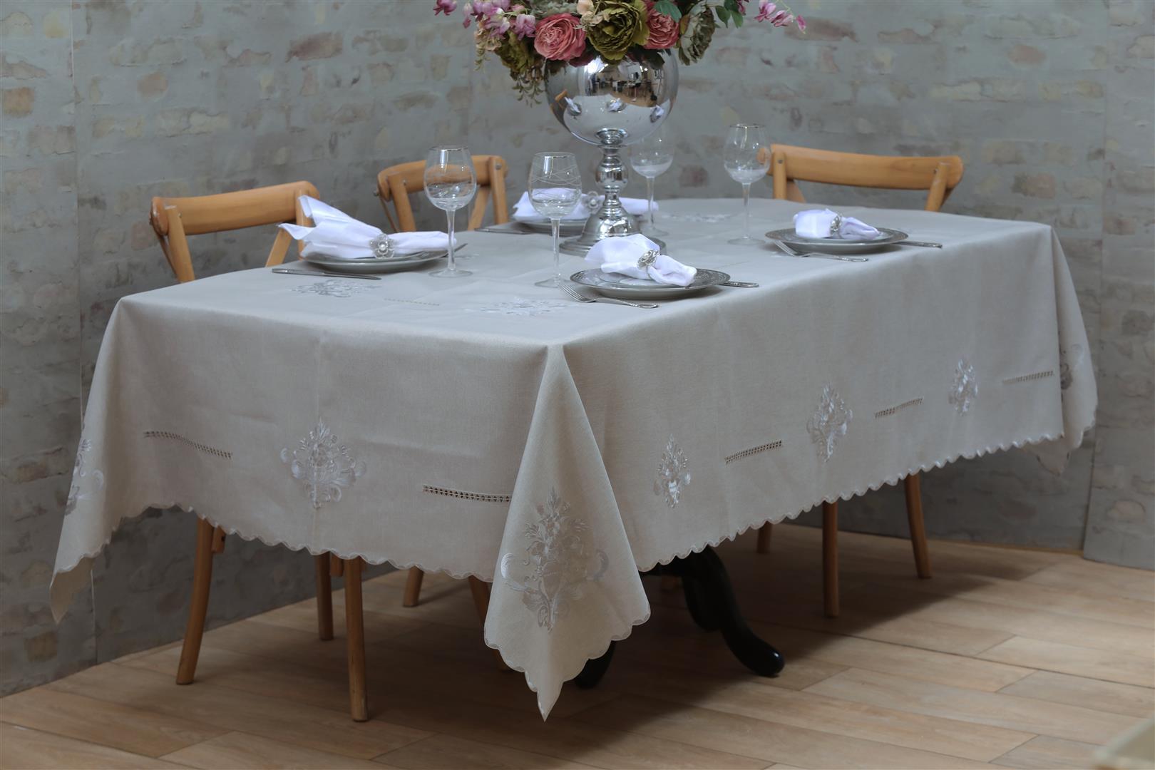 מפת שולחן אודליה אפור
