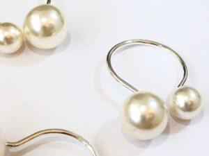 חבק פנינה טבעת כסף