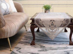 מפת שולחן ליליאן אפור
