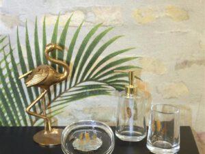 סט כלי אמבטיה פלאיה זהב