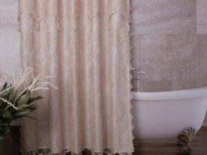 וילון אמבטיה שוהם זהב