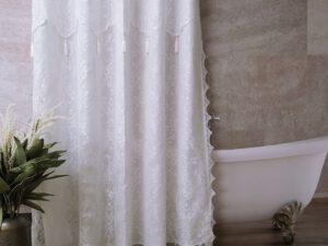 וילון אמבטיה שוהם לבן