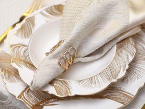 מפיות וחבקים דגם אופל – זהב