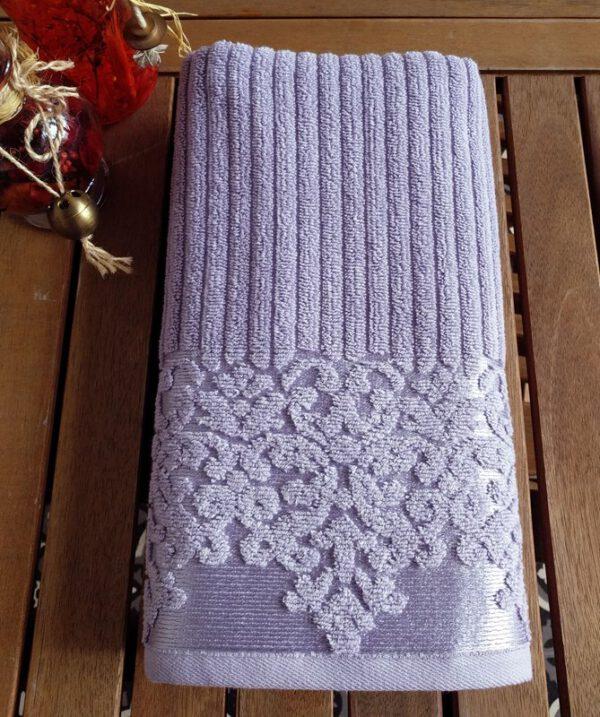 מגבת דגם לינדה צבע סגול לילך