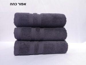 מגבת חלקה אפור כהה