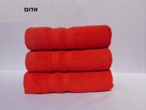 מגבת חלקה אדום