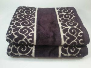 מגבת דגם לולאות סגול
