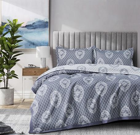 כיסוי מיטה יחיד – פיניקס אפור כהה