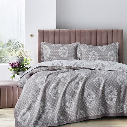 כיסוי מיטה יחיד – פיניקס אפור בהיר