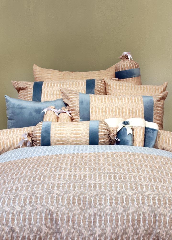 מצעים לחדר שינה דגם בריליאנט כחול