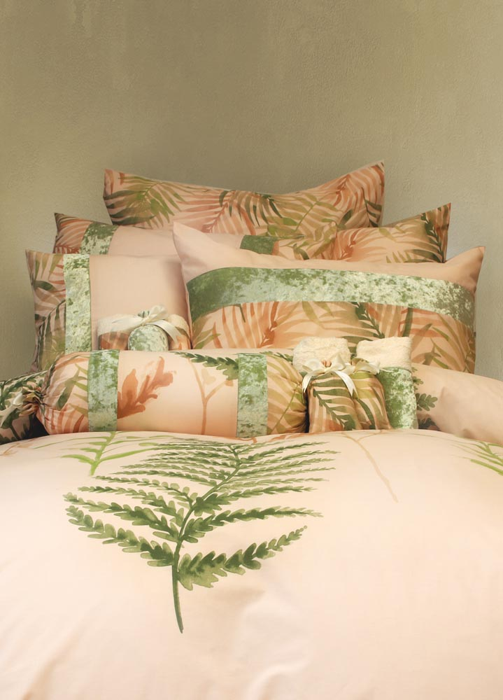 מצעים לחדר שינה דגם פלאור אפרסק