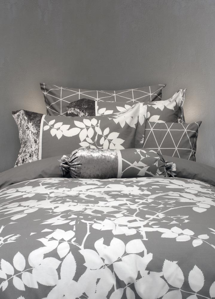 מצעים לחדר שינה דגם פלקס אפור