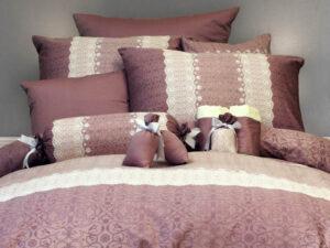 מצעים לחדר שינה דגם פרל סגול סטן