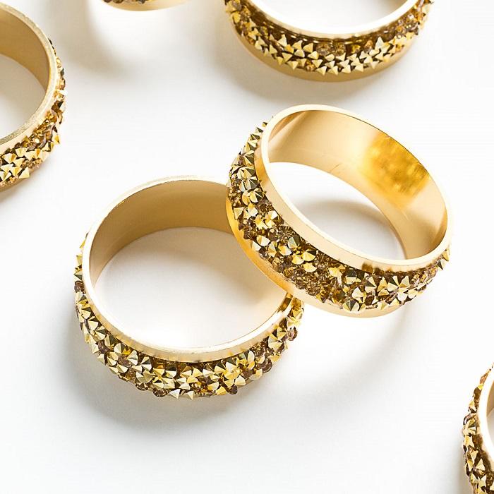 חבקים דגם רינג קריסטל זהב
