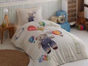 מצעי ילדים דגם דובי בלונים