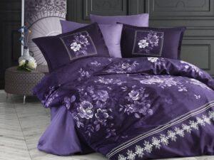 מצעים לחדר שינה דגם קטלינה סגול