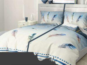 מצעים לחדר שינה דגם נוצות באויר