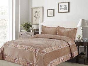 כיסוי מיטה יחיד דגם אמדאוס קטיפה ב'ז